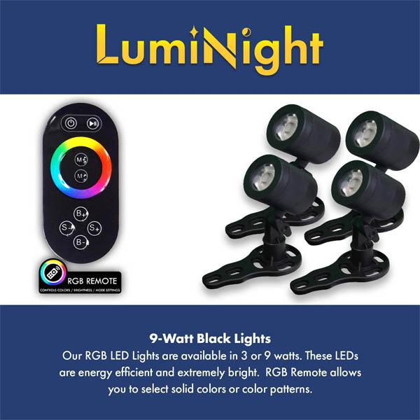 9 Watt RGB Lights