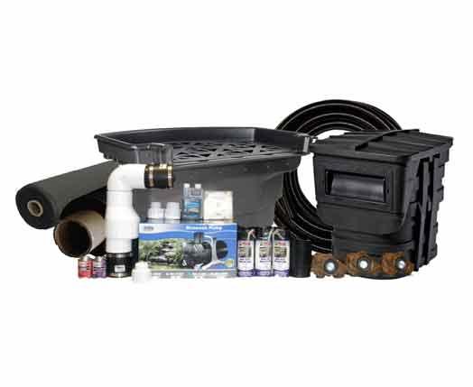 Koi pond kits amazoncom 15 x 20 small koi pond kit gph for Small pond pump filter kit
